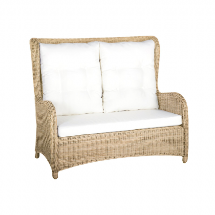Kensington 5mm Rattan 2 Seater Arm Sofa in 4 Seasons